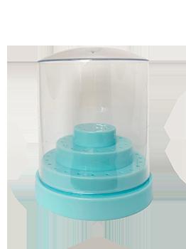 Expositor porta brocas para 48 brocas Cor: Azul bebe