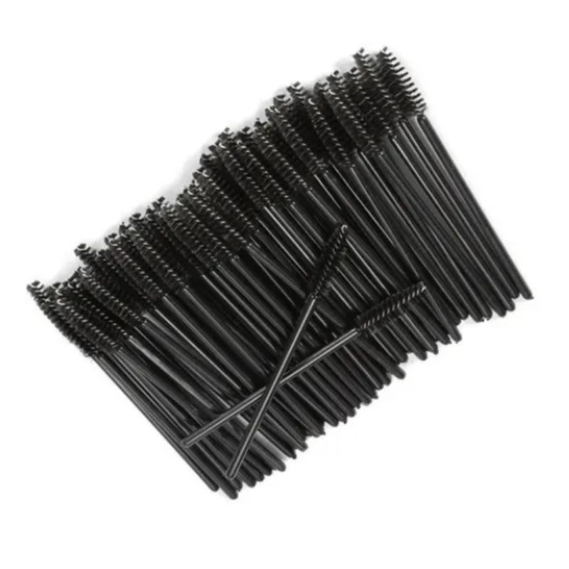 Escovinhas para cílios descartáveis pacote Preto com 50un