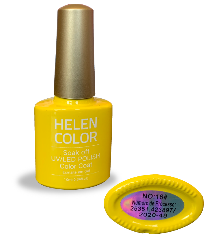Esmalte em gel Helen Color 10ml - amarelo #16