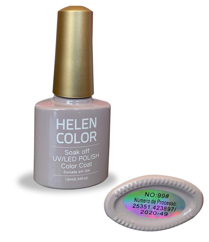 Esmalte em gel Helen Color 10ml - cinza cimento #99