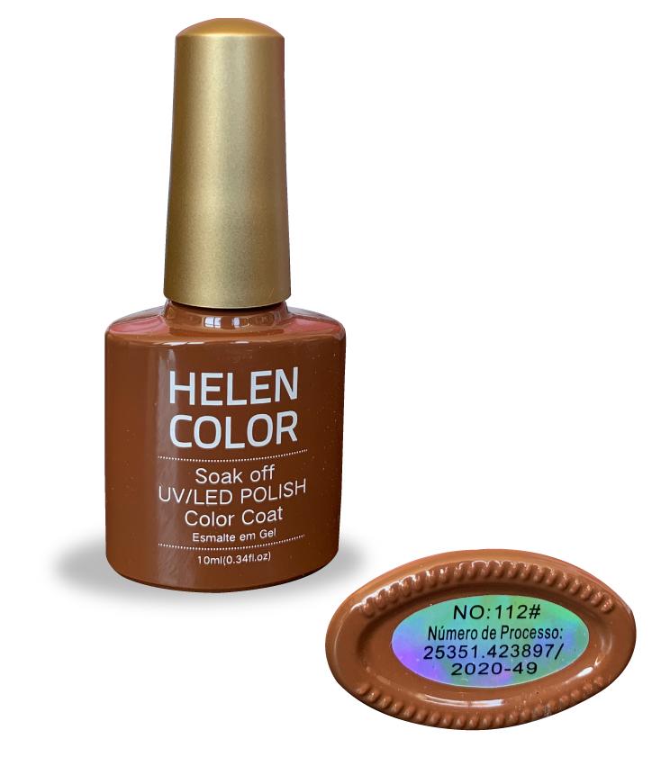 Esmalte em gel Helen Color 10ml - marrom café com leite #112