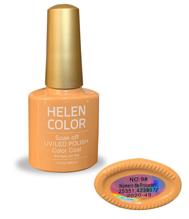 Esmalte em gel Helen Color 10ml - nude claro #09