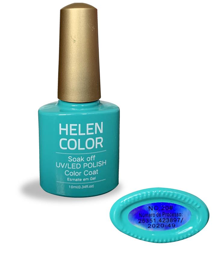 Esmalte em gel Helen Color 10ml - verde turquesa #20