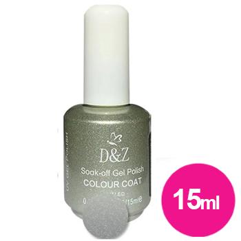Esmalte em gel prata com glitter uv/led - d&z 15ml