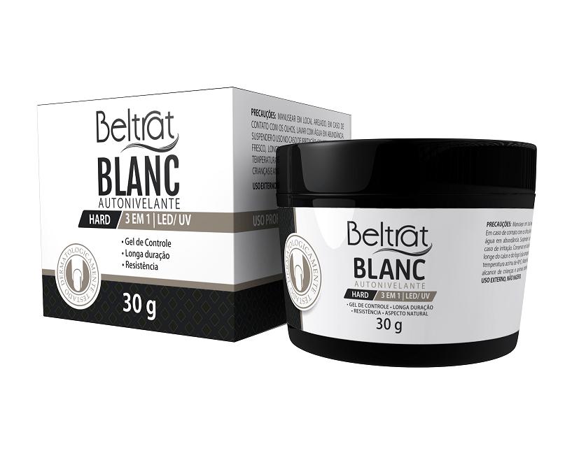 Gel Autonivelante para unhas - Beltrat Hard Blanc 30g