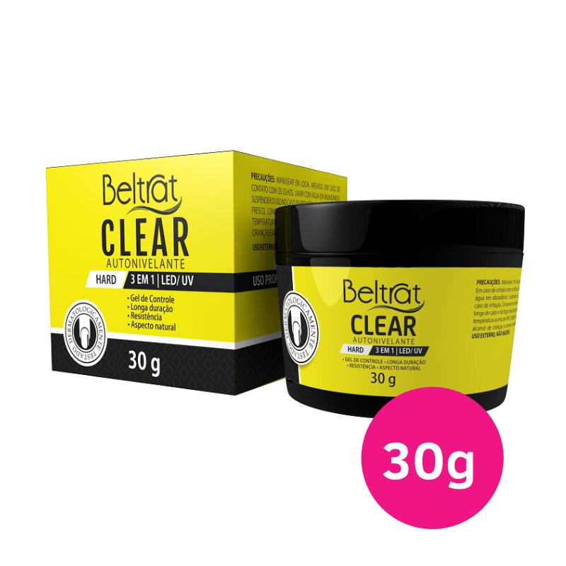 Gel Autonivelante para unhas - Beltrat Hard Clear 30g