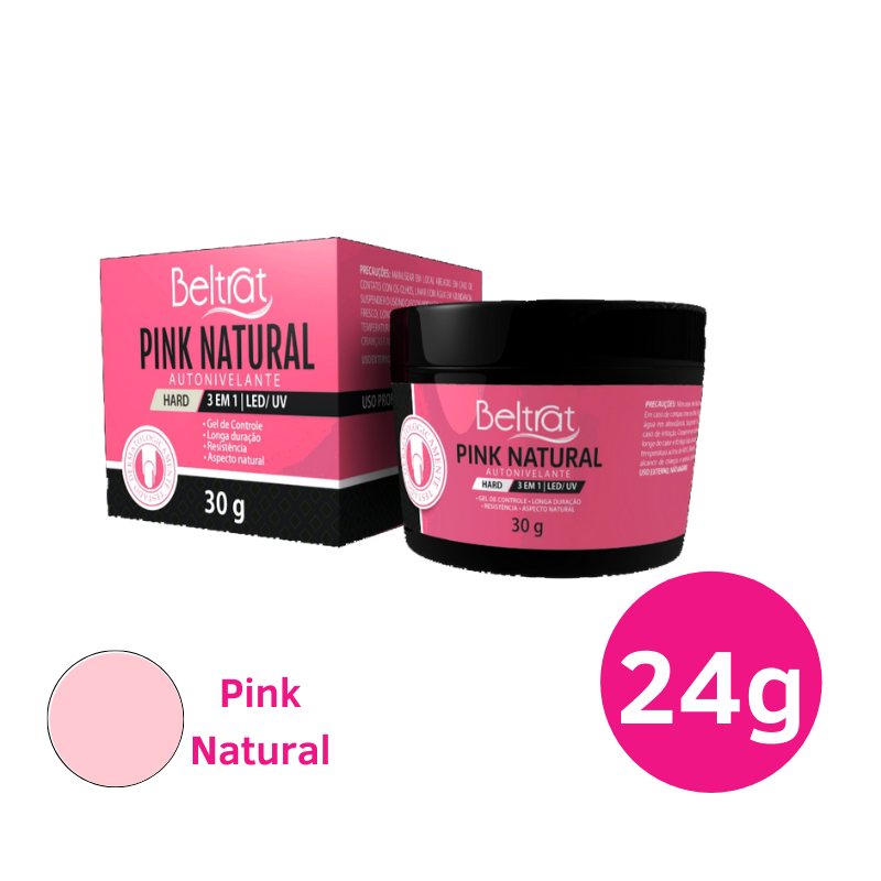 Gel Autonivelante para unhas - Beltrat Hard Pink Natural 24g