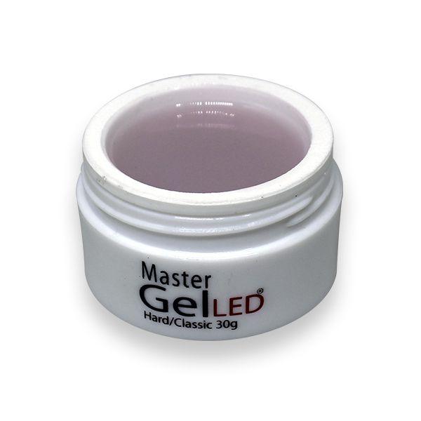Gel para alongamento de unhas - adore master gel led hard  classic pink pote 30g