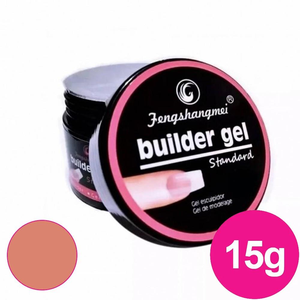 Gel para unhas - Fengshangmei (Pretinho do poder) de 15ml nude 007 gel construtor (alongamento) UV/LED
