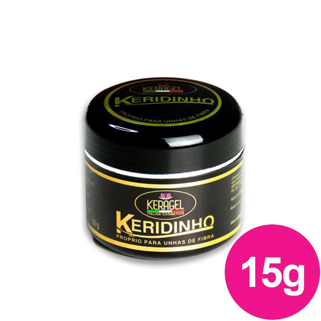 Gel para unhas - keragel keridinho 15g gel nude construtor (alongamento) fibra de vidro