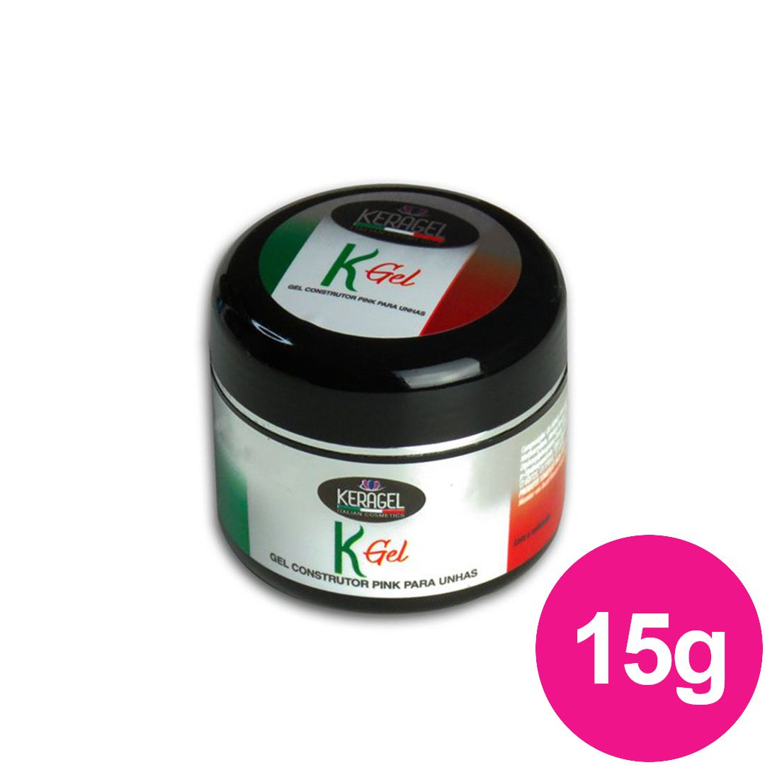 Gel para unhas - Keragel Kgel pink 15g gel construtor (alongamento) UV/LED