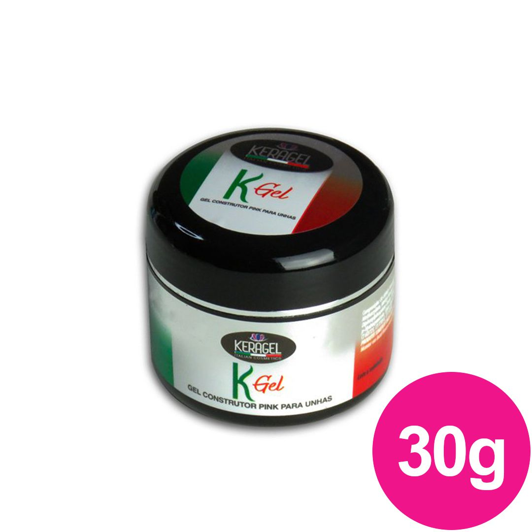 Gel para unhas - Keragel Kgel pink 30g gel construtor (alongamento) UV/LED