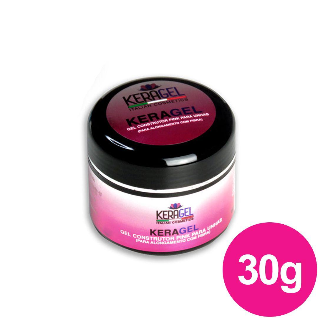 Gel para unhas - Keragel Pink 30g gel construtor (alongamento) UV/LED