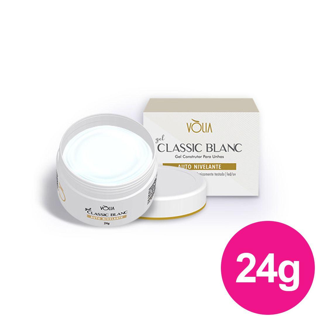 Gel para unhas - vòlia de 24g classic blanc gel construtor (alongamento) uv/led