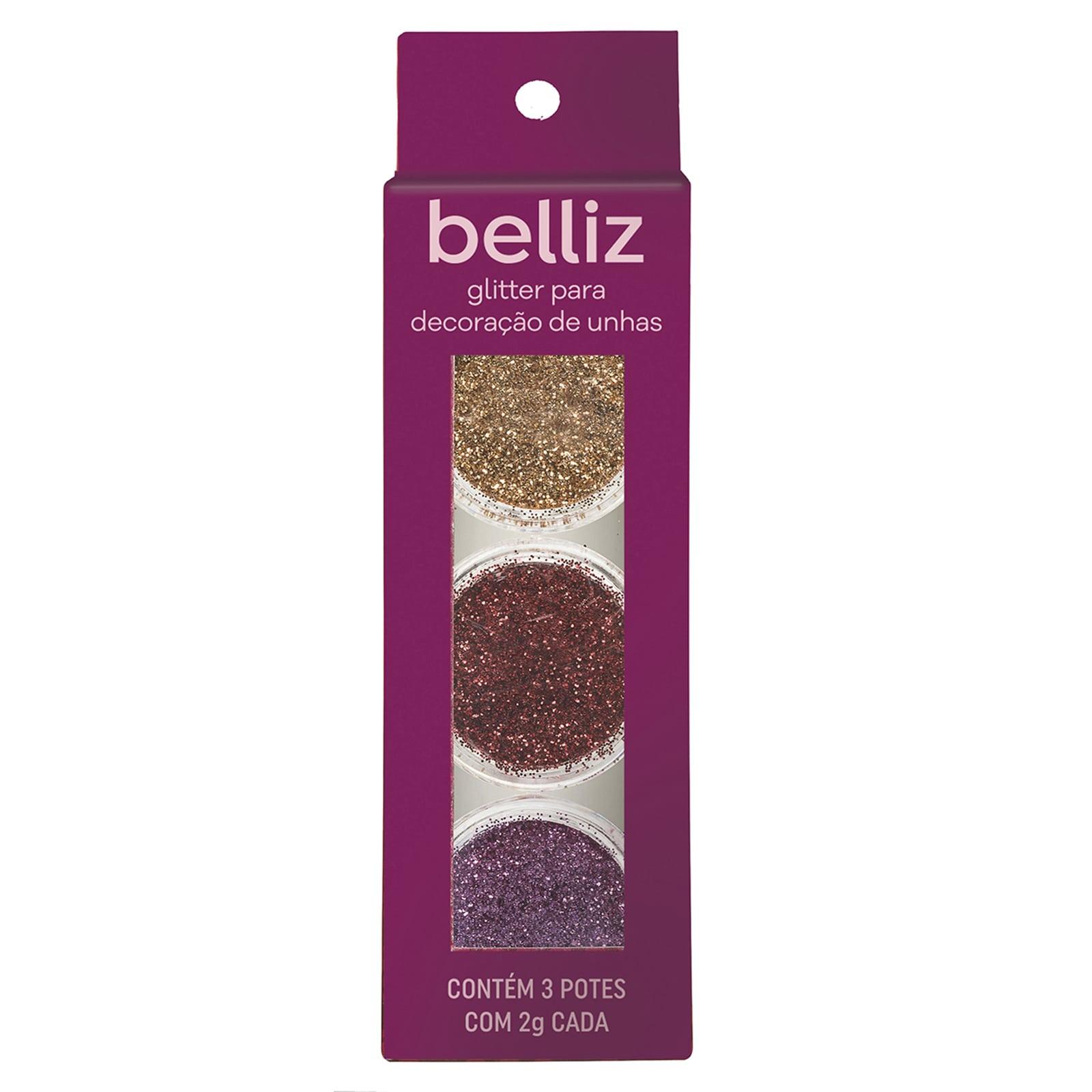 Glitter para decoração de unhas 1829 belliz