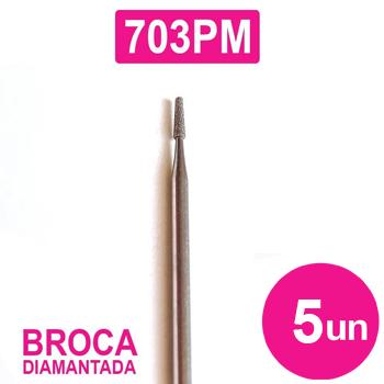 Kit 5 Brocas Diamantada para micromotor e lixadeira