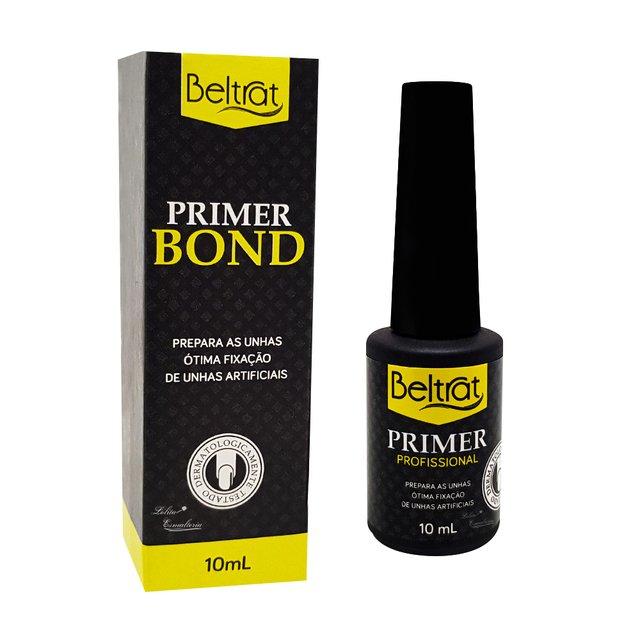 Kit Beltrat Primer Ácido Profissional 10ml, Selante Beltrat Led/Uv 10ml, Primer Bond Beltrat 10ml e Prep Spray Higienizante Refil Beltrat 120ml