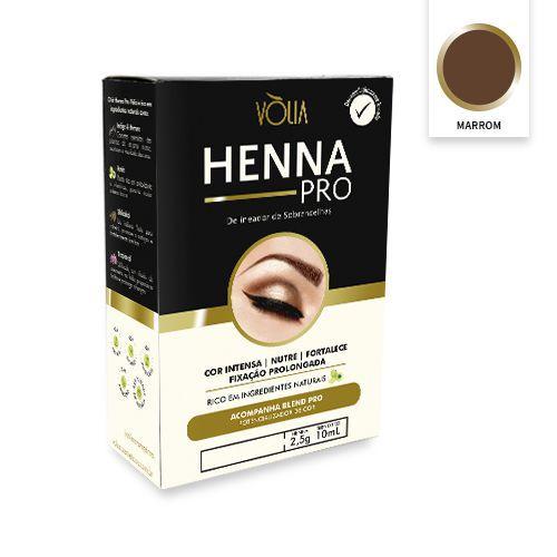 Kit Henna Pro Marrom Vòlia PA004