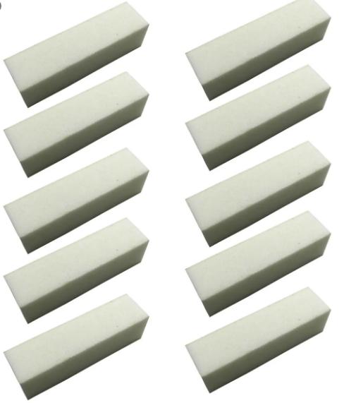 Lixa bloco fecha poros abrasiva branca com 10un