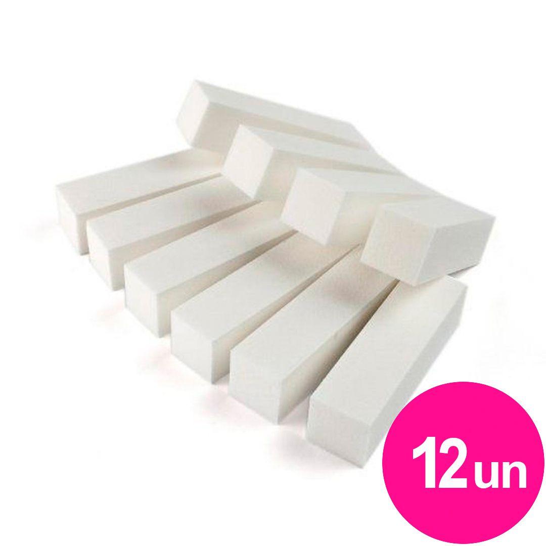 Lixa bloco fecha poros abrasiva branca com 12un KN21B