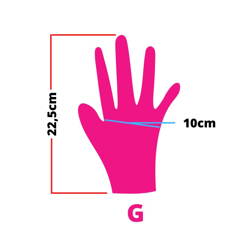 Luva de latex descartável clássico pink com pó unigloves - 100un tam G (grande)