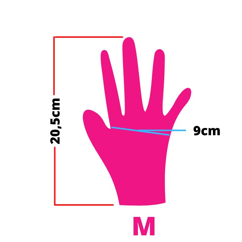 Luva de latex descartável clássico pink com pó unigloves - 100un tam M (médio)