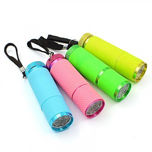 Mini lanterna portátil bateria led ultra violeta seca unha gel Uv 9 led