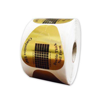 Molde adesivo de papel LARGO para aplicação de unhas Postiças - 500un