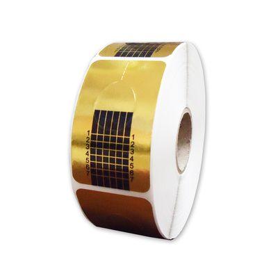 Molde adesivo de papel para aplicação de unha profissional - c/ 500 un