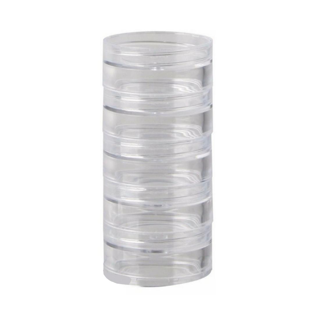 Organizador de glitter tipo torre com 5 capsulas