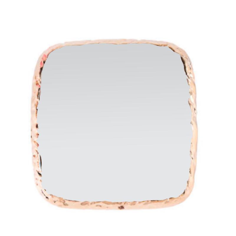 Pedra para foto quadrada branco (quadradinho com base dourada para fotos)