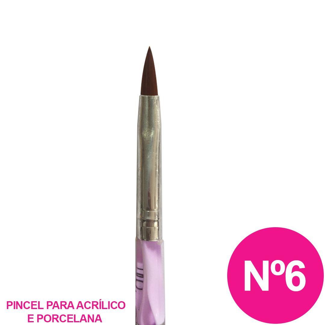 Pincel tipo caneta nº 6 - Alongamento de unha Acrílica e Porcelana CC668N