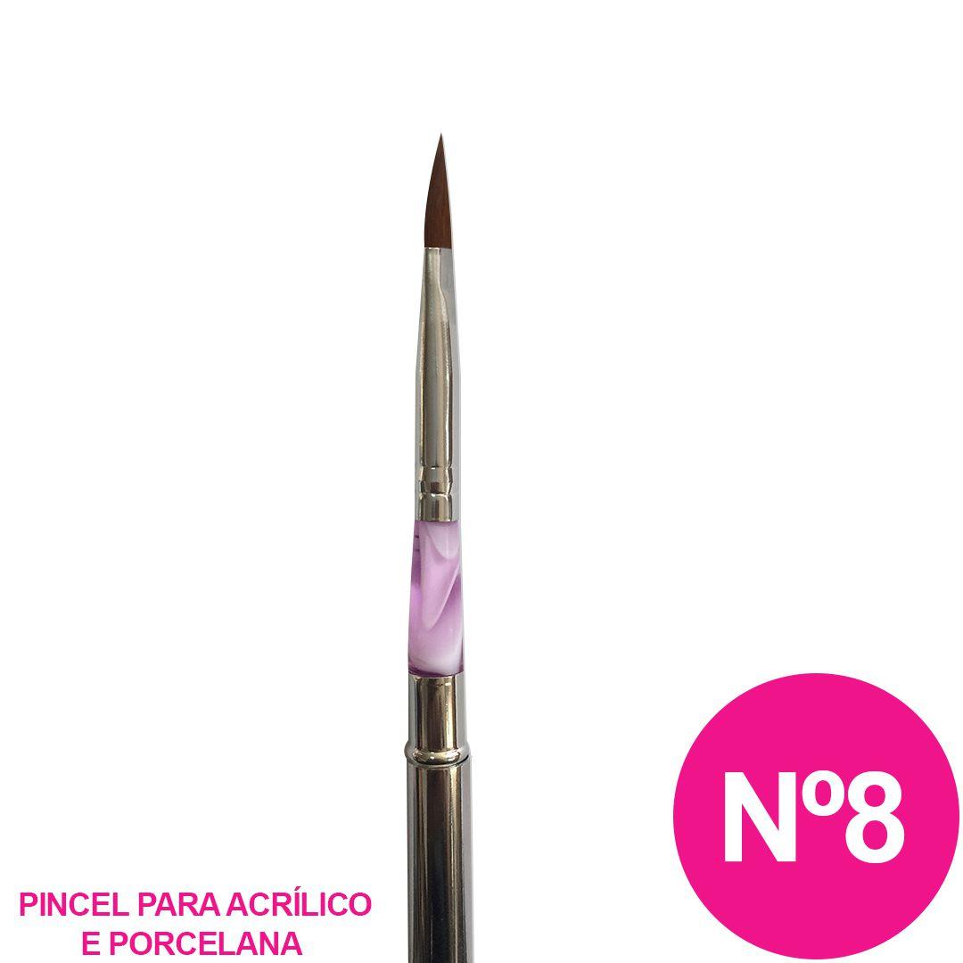 Pincel tipo caneta nº 8 - alongamento de unha acrílica e porcelana cc668e