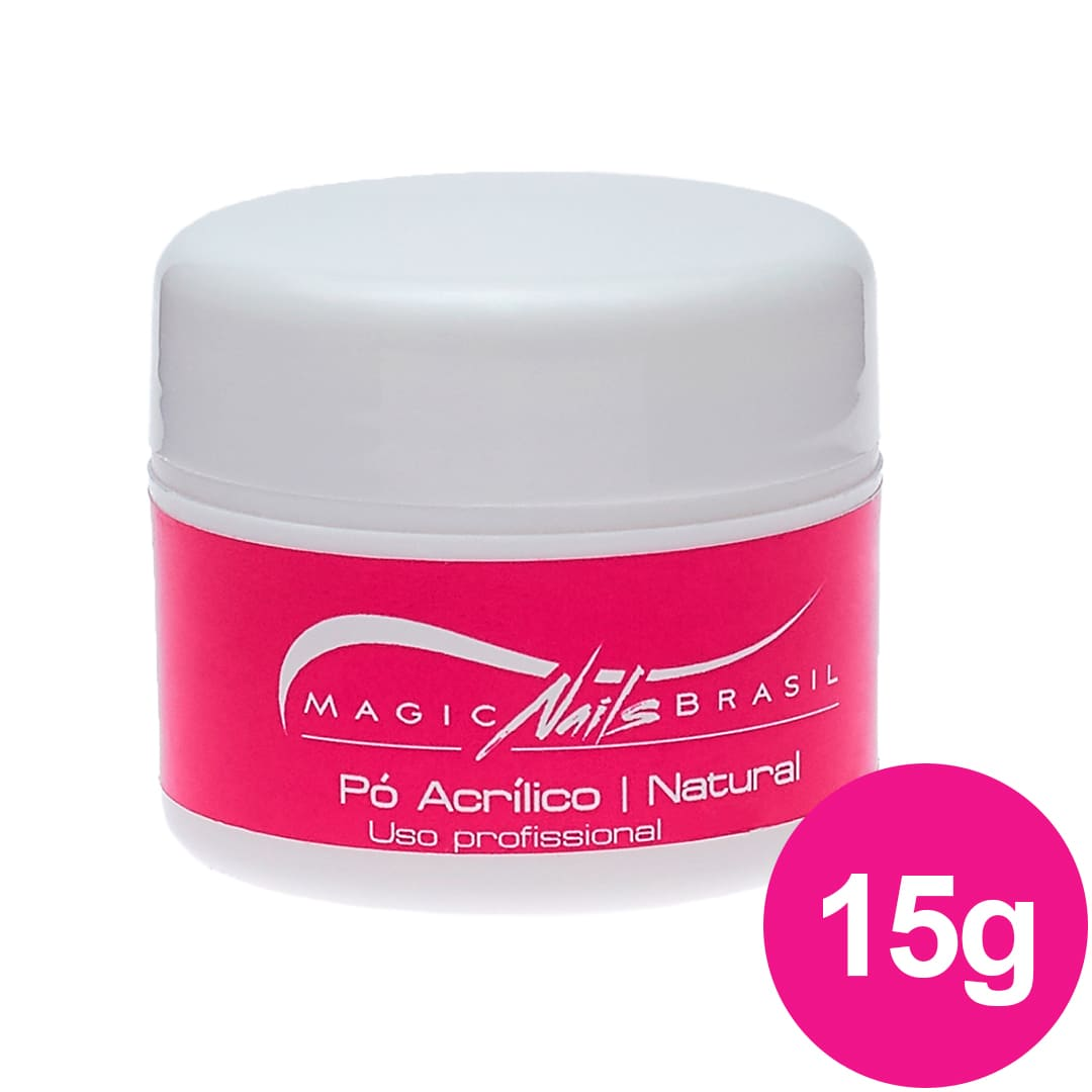 Pó Acrílico MAGIC NAILS para ACRIGEL e PORCELANA 15g Natural