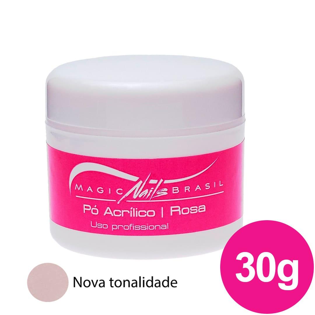 Pó Acrílico MAGIC NAILS para ACRIGEL e PORCELANA 30g Rosa Chá