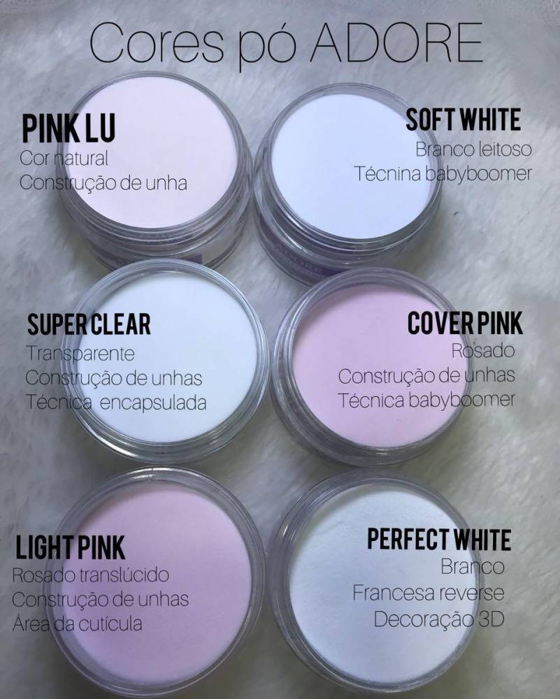 Pó Acrílico Master Sculp - Cover Pink Adore - 1 pote de 40g