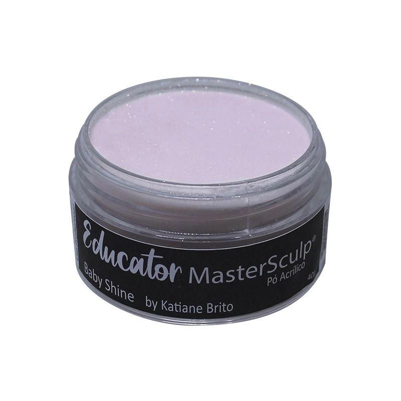 Pó acrílico master sculp educator - baby shine by katiane brito - adore - 1 pote de 40g