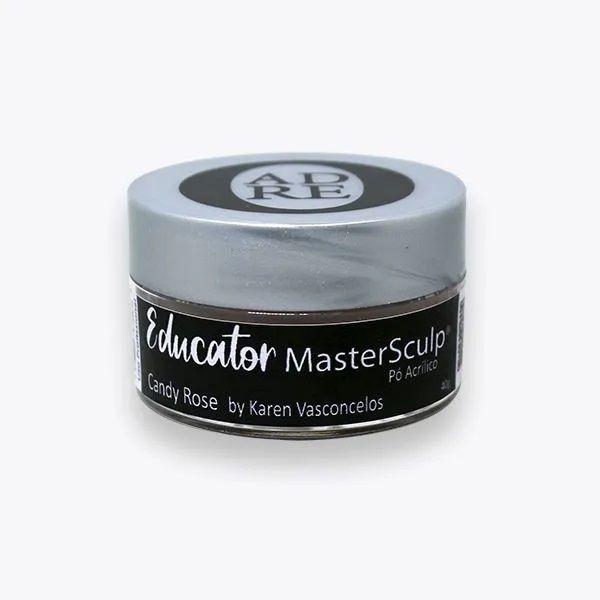 Pó acrílico master sculp educator karen vasconcelos - candy rose adore - 1 pote de 40g