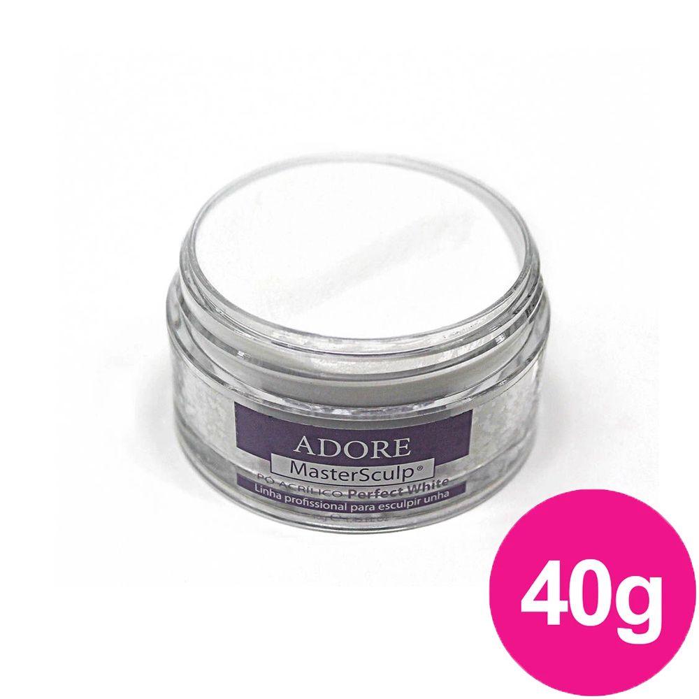 Pó Acrílico Master Sculp - Perfect White Adore - 1 pote de 40g