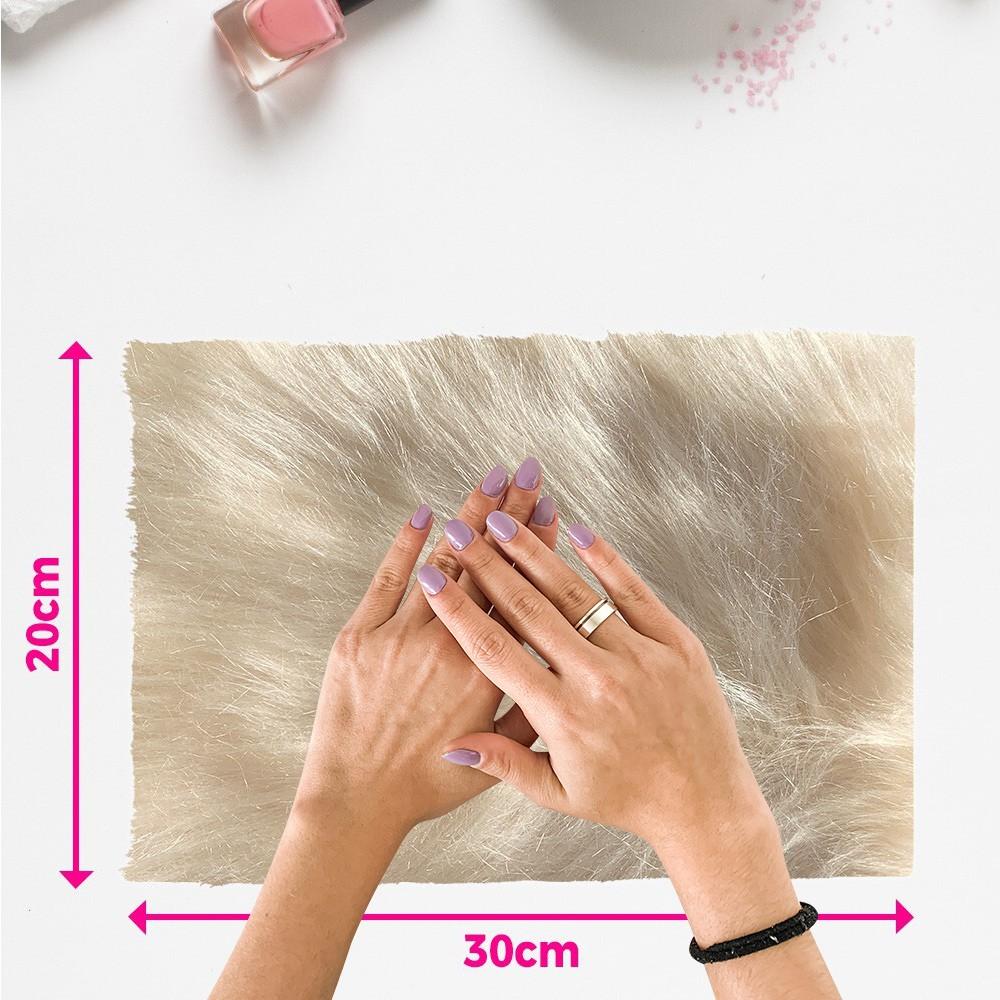 Tapete pelo alto para manicure - fundo de foto - champanhe