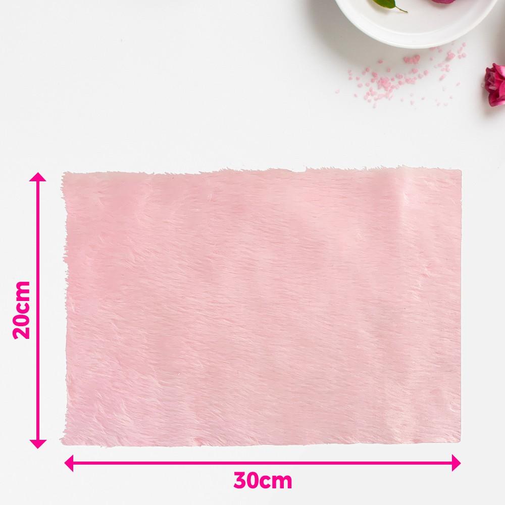 Tapete pelúcia pelo baixo liso para manicure - fundo de foto - rosa bebê