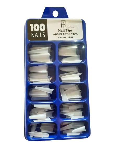 Tips de unha Fan Nails sorriso bailarina - Caixa com 100un