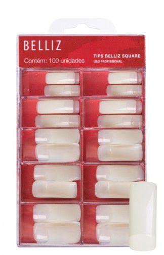 Tips de unhas belliz square (quadrado) - Caixa com 100 un -1252