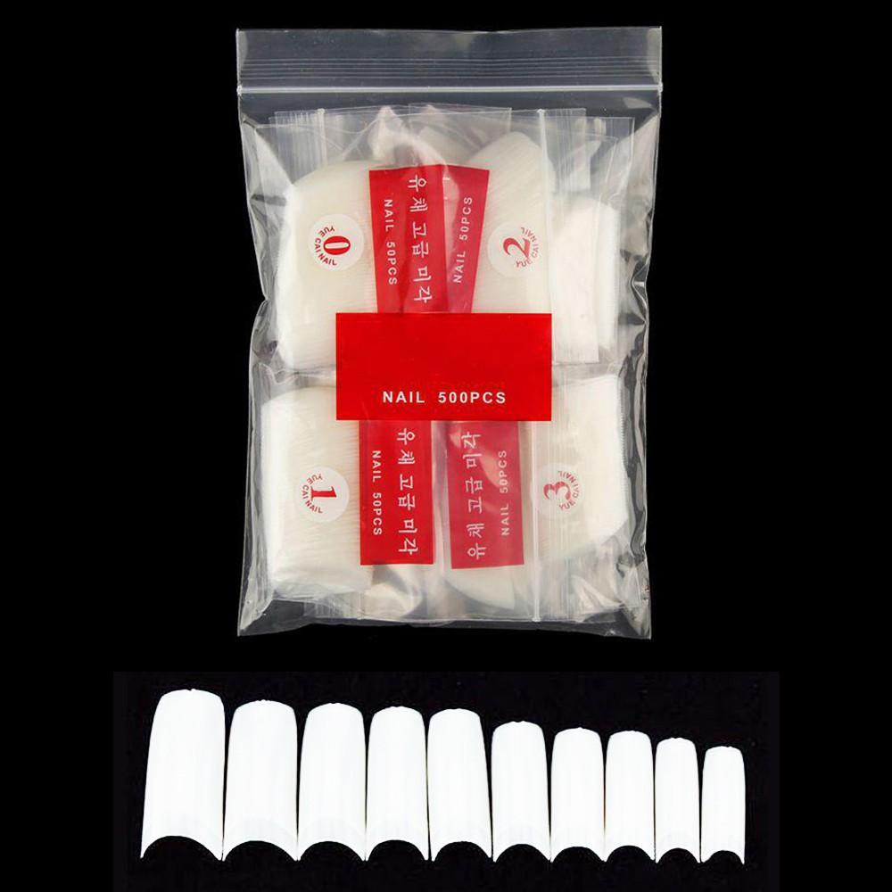 Tips de Unhas Fancy ou Sorriso cor natural - pacote com 500un - Marca genérica