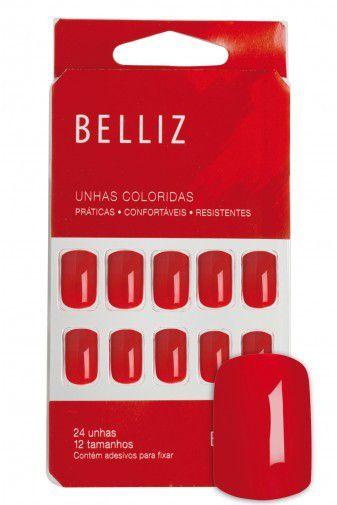 Unhas Belliz Hot - Vermelho - 1248 #PB1
