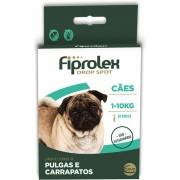 Antipulgas e Carrapatos Fiprolex Drop Spot para Cães de 1 a 10kg - Ceva