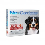 Antipulgas e Carrapatos Nexgard 136mg para Cães de 25,1 a 50kg (3 tabletes) - Boehringer Ingelheim