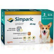 Antipulgas e Carrapatos para Cães Simparic de 10,1 a 20kg (3 tabletes) - Zoetis