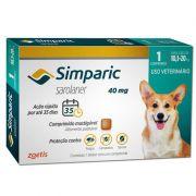 Antipulgas e Carrapatos para Cães Simparic de 10,1 a 20kg - Zoetis