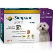 Antipulgas e Carrapatos para Cães Simparic de 2,6 a 5kg (3 tabletes) - Zoetis